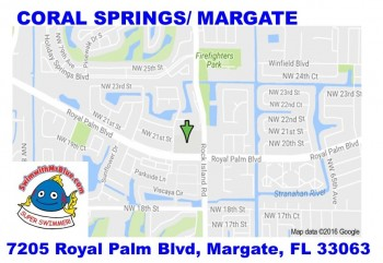 Map Of Florida Showing Coral Springs.Coral Springs Swimming Swim Lessons For All Ages Swim With Mr Blue